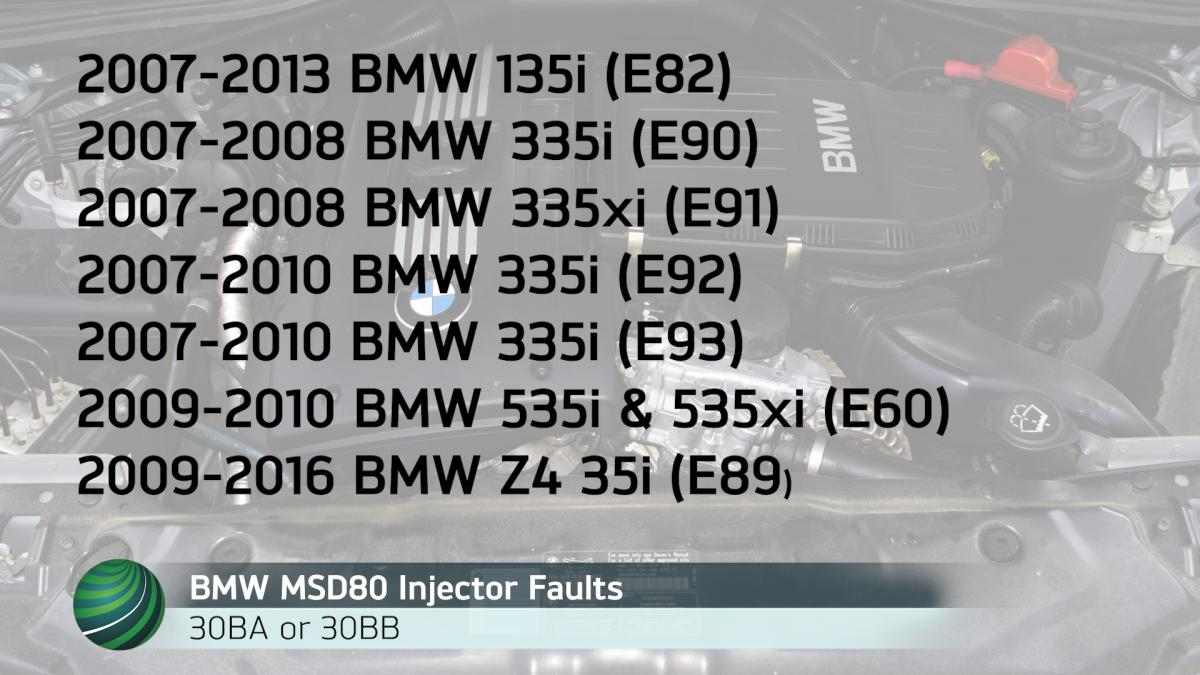 Bmw Msd80 Fuel Injector Fault Code Diagnosis 30ba 30bb 135 Wiring Diagram Models With Dme Software May Set The Codes Or These When Injectors On Bank 1 2 Develop Circuit
