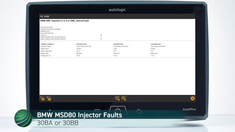Bmw Msd80 Fuel Injector Fault Code Diagnosis 30ba 30bb